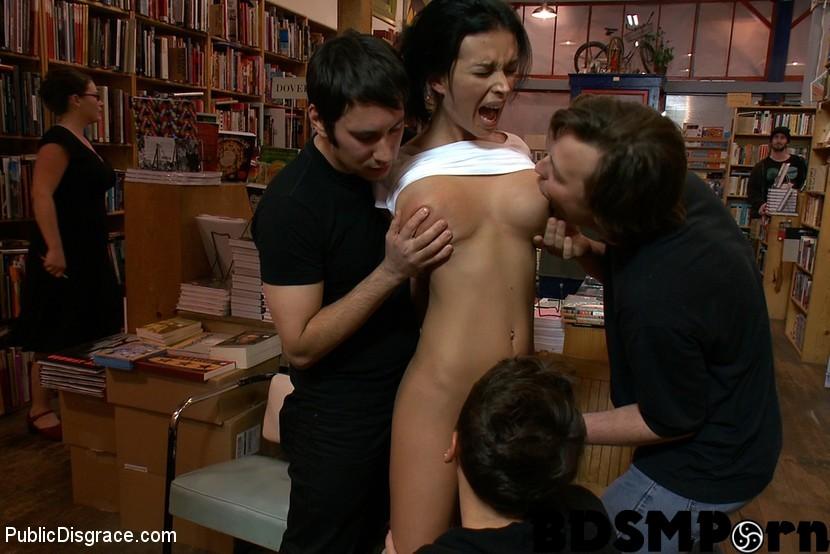 Huge tits public disgrace